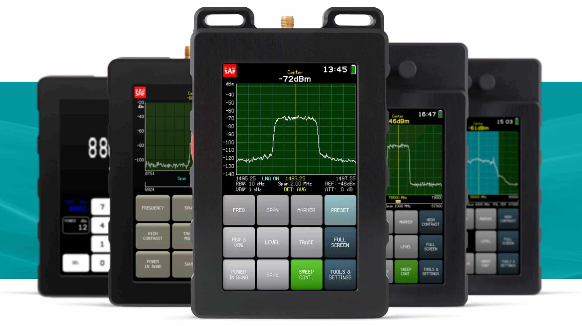 SAF spectrum analyzers and signal generators